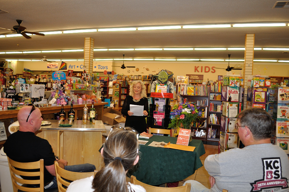 Author reading and signing BookSmart, Morgan Hill, California